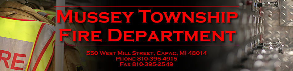 Mussey Township Fire Department 550 W Mill St Capac, MI 48014 - Phone: (810) 395-4915